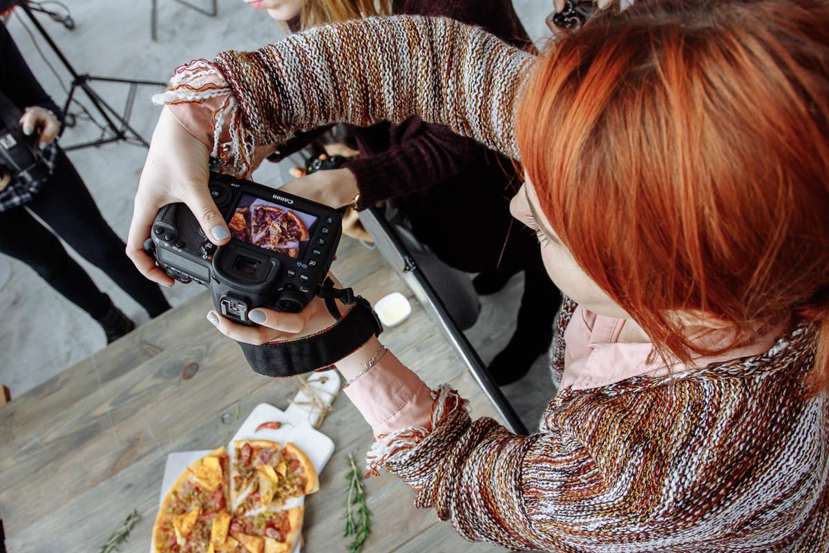 трюки фотографирования еды помощью